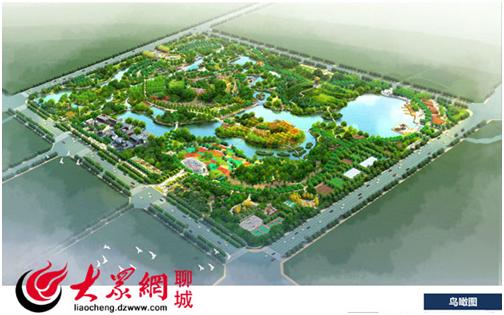 公园未来的鸟瞰图
