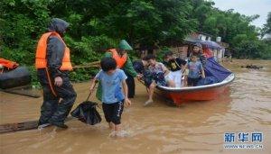 #(社会)(3)湖南多地遭遇暴雨 被困群众得到转移
