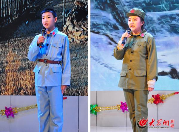 """共筑中国梦""""为主题的红色故事会在聊城文苑小学会议厅举办,40名小学生"""